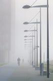 有雾的城镇 免版税库存图片