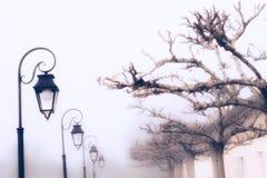 有雾的天在法国 免版税库存照片