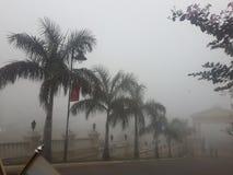 有雾的天 免版税库存照片