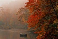 有雾的早晨佛蒙特 图库摄影