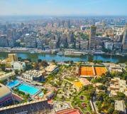 有雾的早晨在开罗,埃及 免版税图库摄影