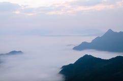有雾的横向 免版税库存图片
