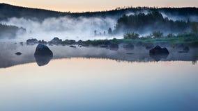 有雾的水 免版税图库摄影