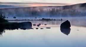 有雾的水 库存照片
