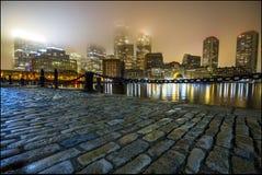 有雾的波士顿 免版税库存图片