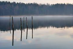 有雾的海湾 免版税库存照片