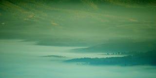 有雾的海 免版税库存照片