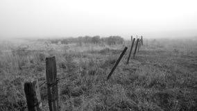 有雾的禁界线 库存图片
