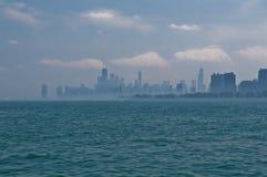 有雾的芝加哥 免版税库存照片