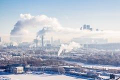 有雾的莫斯科 免版税图库摄影