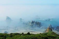 有雾的coast3 库存照片
