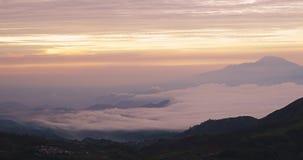 有雾的Dieng高原时间间隔  影视素材