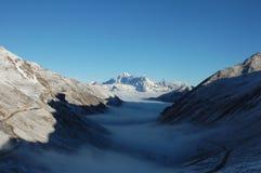 有雾的jokul VA视图 免版税图库摄影