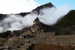 有雾的machu pichu 图库摄影
