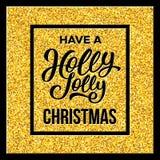 有霍莉快活的圣诞节 也corel凹道例证向量 库存图片
