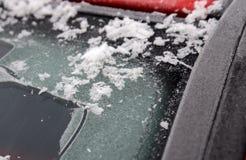 有霜的汽车刮水器 免版税图库摄影
