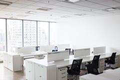 有露天场所的现代办公室对工作 免版税库存照片