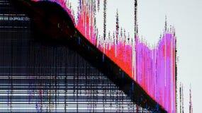 有静态噪声的电视屏幕 免版税库存照片