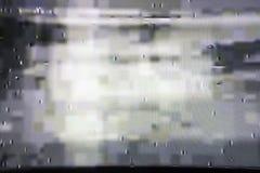 有静态噪声的,坏信号电视屏幕 免版税库存照片