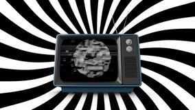 有静止的老电视 皇族释放例证
