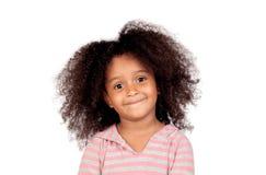 有非洲的发型的可爱的smal女孩 库存照片
