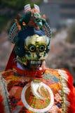 有面具的舞蹈家 免版税库存图片