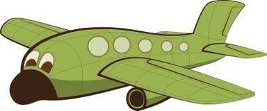 有面孔的滑稽的喷气机飞机 免版税库存照片