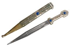 有鞘的短的剑 免版税库存照片