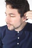 有音响仪器的耳朵 库存照片