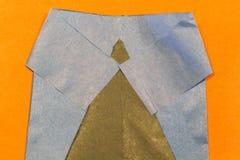 有领带的衣服夹克 儿童的文书工作 免版税库存图片