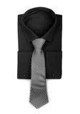有领带的黑衬衣 免版税库存图片