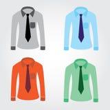 有领带的eps10颜色衬衣 图库摄影