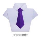 有领带的Origami衬衣 免版税库存图片