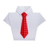 有领带的Origami衬衣 库存照片