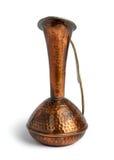 有题字的铜水罐 库存照片
