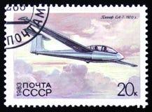 有题字`的SA-7, 1970年`滑翔机 库存照片