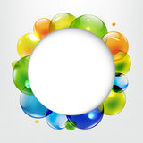 有颜色球的对话气球 库存照片