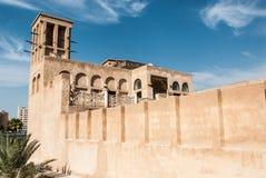 有风塔的阿拉伯房子 免版税图库摄影