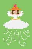 有风天气的天使 免版税库存照片