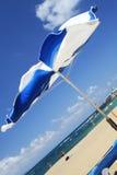 有风海滩的场面 库存图片