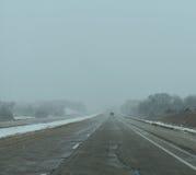 有风的高速公路 免版税库存照片