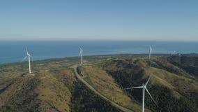 有风车的太阳农场 菲律宾,吕宋 库存照片