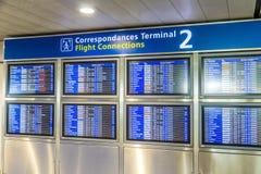 有飞机离开日程表的委员会后表明 免版税库存图片