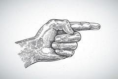 有食指的手 向量例证