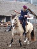 有马的印第安人混血儿 库存照片