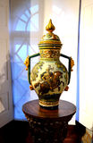 有马绘画的装饰的花瓶  库存图片