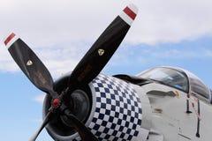 有验查员的飞机推进器 库存图片