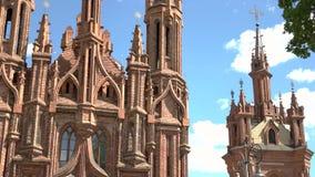 有高塔的大教堂 股票录像