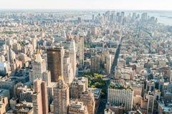 有高摩天大楼的纽约全景 免版税库存照片