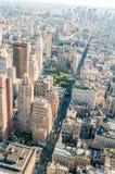 有高摩天大楼的纽约全景 库存图片